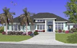 Florida Style Floor Plans Plan: 71-421