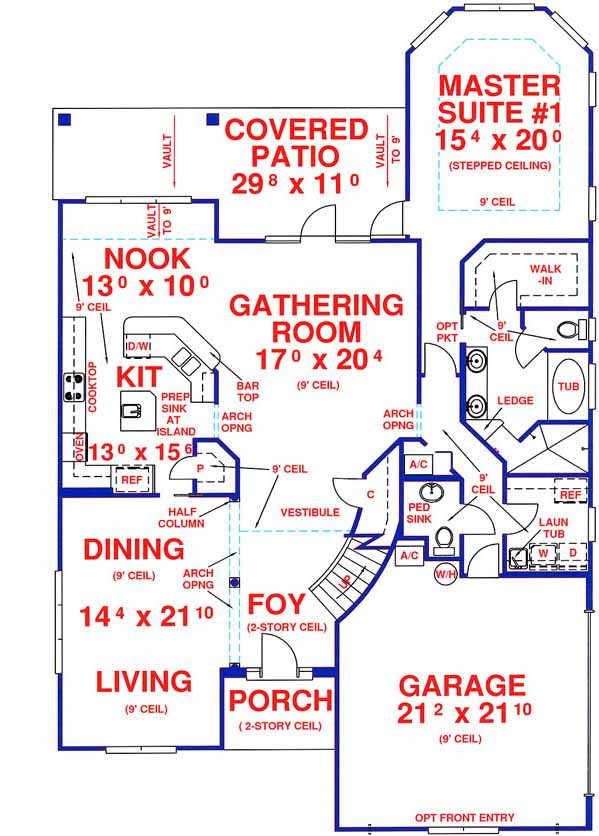 Main Floor Plan: 71-423