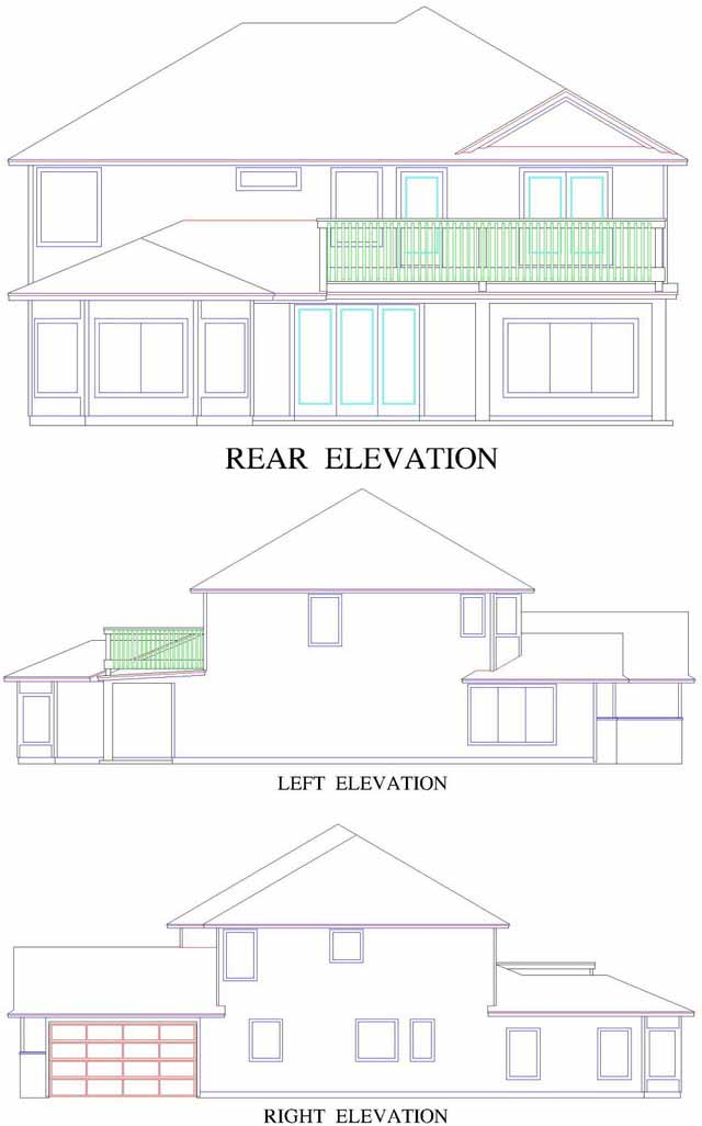 Rear Elevation Plan: 71-423