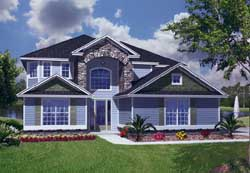 Traditional Style Home Design Plan: 71-423