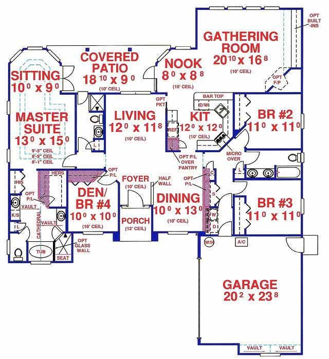 71-434m Ramblers Sq Ft House Design on