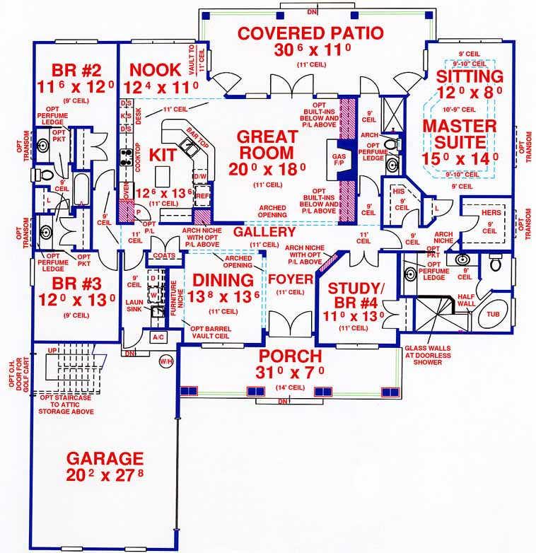 Main Floor Plan: 71-436