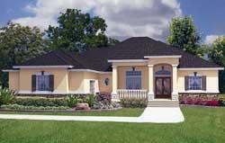 Florida Style House Plans Plan: 71-474