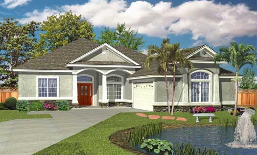 Florida Style House Plans Plan: 71-477