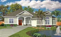 Florida Style Floor Plans 71-477