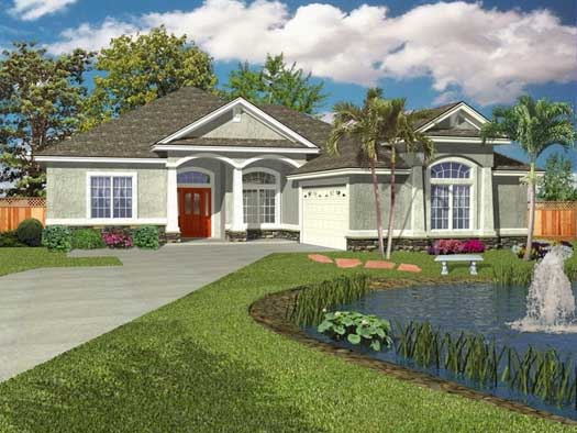 Florida Style Floor Plans Plan: 71-501
