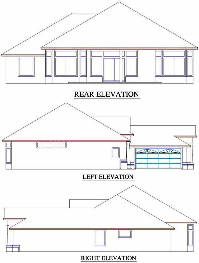 Rear Elevation Plan: 71-501