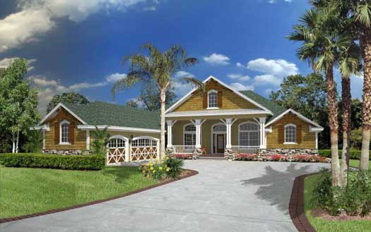 Country Style House Plans Plan: 71-528