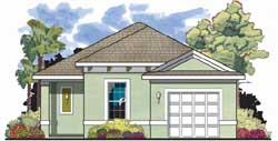 Florida Style Floor Plans Plan: 73-101