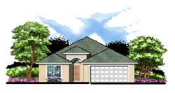 Florida Style House Plans 73-103