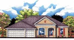 Florida Style Home Design Plan: 73-156