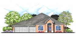 Florida Style Floor Plans Plan: 73-162