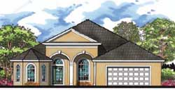 Florida Style House Plans 73-166