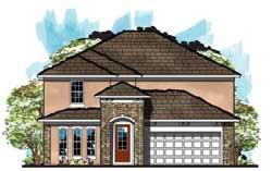 Florida Style House Plans Plan: 73-175