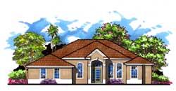 Florida Style Floor Plans Plan: 73-177