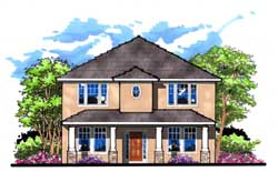 Bungalow Style Home Design Plan: 73-179