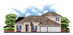 Florida Style House Plans Plan: 73-182