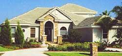 Florida Style Home Design Plan: 73-204