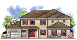 Florida Style Floor Plans Plan: 73-207