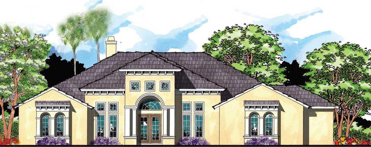 Florida Style Home Design 73-208