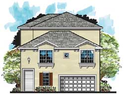 Waterfront Style Home Design Plan: 73-228