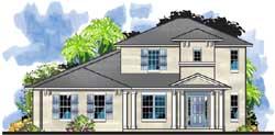 Florida Style Floor Plans Plan: 73-234
