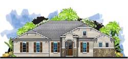 Craftsman Style Home Design Plan: 73-235