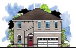 Florida Style Home Design Plan: 73-236