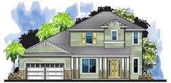 Craftsman Style Home Design Plan: 73-238