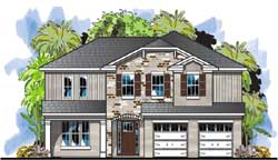 Traditional Style Home Design Plan: 73-241