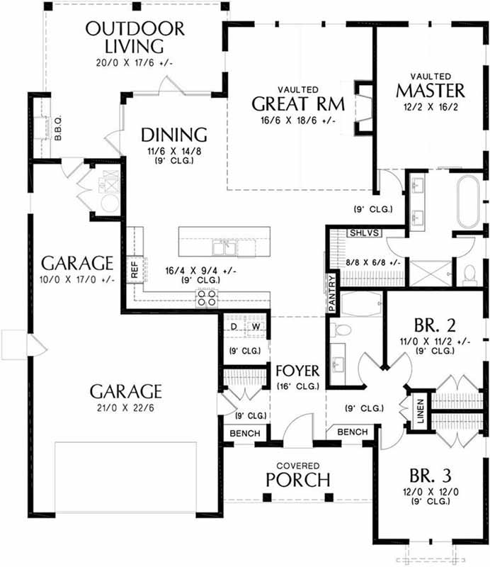 Main Floor Plan: 74-101