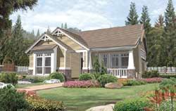 Craftsman Style Floor Plans Plan: 74-102