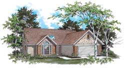 Ranch Style Home Design Plan: 74-104