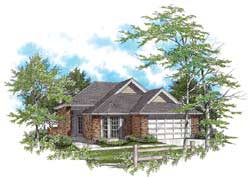 Ranch Style Home Design Plan: 74-105