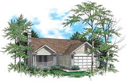 Country Style House Plans Plan: 74-108