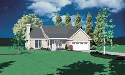 Country Style Home Design Plan: 74-111