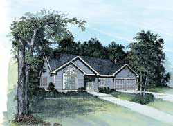 Traditional Style Home Design Plan: 74-112