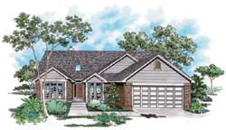 Traditional Style Home Design Plan: 74-114