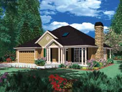 Ranch Style Home Design Plan: 74-117