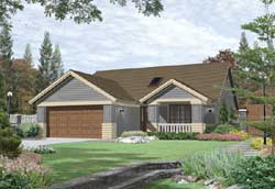 Craftsman Style Floor Plans Plan: 74-119