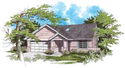 Ranch Style House Plans Plan: 74-120