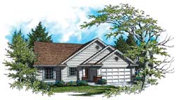 Traditional Style House Plans Plan: 74-124