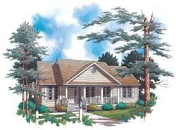 Craftsman Style Home Design Plan: 74-129