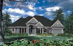 Ranch Style Home Design Plan: 74-132