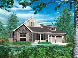 Cottage Style Floor Plans Plan: 74-136
