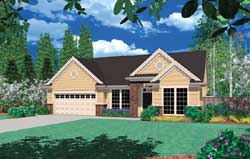 Traditional Style Home Design Plan: 74-138