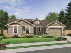 Craftsman Style Home Design Plan: 74-143