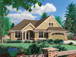 Craftsman Style Home Design Plan: 74-145