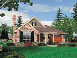 Craftsman Style Home Design Plan: 74-149