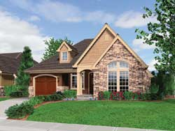 Cottage Style Home Design Plan: 74-153